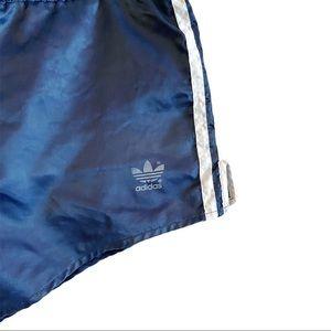 Vintage 70's Adidas blue running short shorts